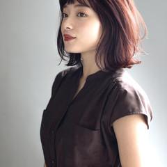 モテボブ 外ハネボブ パーマ ヘアスタイルや髪型の写真・画像