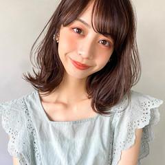 大人かわいい 韓国 レイヤースタイル オレンジベージュ ヘアスタイルや髪型の写真・画像