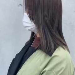 ナチュラル 切りっぱなし 3Dハイライト アンニュイほつれヘア ヘアスタイルや髪型の写真・画像
