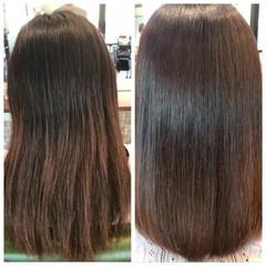 縮毛矯正 ナチュラル ストレート 艶髪 ヘアスタイルや髪型の写真・画像