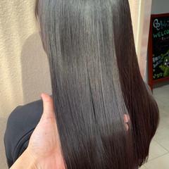 暗髪 ブルーブラック 髪質改善 暗髪女子 ヘアスタイルや髪型の写真・画像