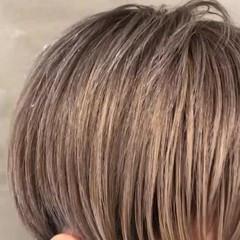 オン眉 女子力 グレージュ モード ヘアスタイルや髪型の写真・画像