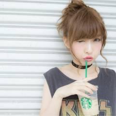 ルーズ ショート ヘアピン ヘアアレンジ ヘアスタイルや髪型の写真・画像