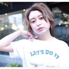 ラフ 色気 フェミニン ショート ヘアスタイルや髪型の写真・画像