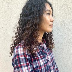 パーマ 外国人風パーマ スパイラルパーマ 無造作パーマ ヘアスタイルや髪型の写真・画像