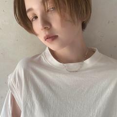 アンニュイ ショート モード ハイトーン ヘアスタイルや髪型の写真・画像