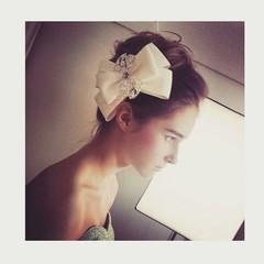 外国人風 セミロング ヘアアレンジ 結婚式 ヘアスタイルや髪型の写真・画像