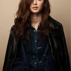 愛され モテ髪 暗髪 ロング ヘアスタイルや髪型の写真・画像