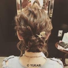 ヘアアレンジ コンサバ 結婚式 波ウェーブ ヘアスタイルや髪型の写真・画像