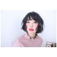 アッシュ 色気 小顔 ナチュラル ヘアスタイルや髪型の写真・画像