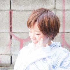 ハイライト ショート ストリート 小顔 ヘアスタイルや髪型の写真・画像