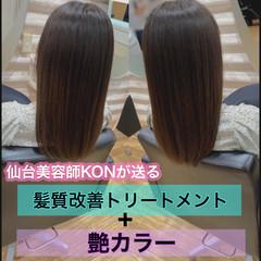 髪質改善 大人ロング ナチュラル 髪質改善カラー ヘアスタイルや髪型の写真・画像