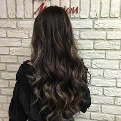 ストリート ハイライト 外国人風 ロング ヘアスタイルや髪型の写真・画像