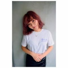 ウェットヘア ボブ ストリート マルサラ ヘアスタイルや髪型の写真・画像