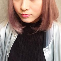 グラデーションカラー フェミニン ボブ ストレート ヘアスタイルや髪型の写真・画像