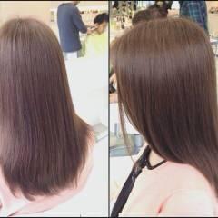 モテ髪 ブラウンベージュ アッシュ 透明感 ヘアスタイルや髪型の写真・画像