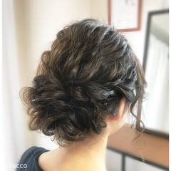 ウェーブ ヘアアレンジ アンニュイ ナチュラル ヘアスタイルや髪型の写真・画像