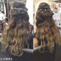 外国人風 ヘアアレンジ ショート 簡単ヘアアレンジ ヘアスタイルや髪型の写真・画像