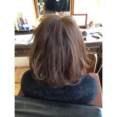 ミディアム ラベンダーアッシュ 外国人風 暗髪 ヘアスタイルや髪型の写真・画像