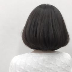 グレージュ 春 ボブ ナチュラル ヘアスタイルや髪型の写真・画像