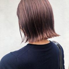 ガーリー アンニュイほつれヘア 透明感 ボブ ヘアスタイルや髪型の写真・画像