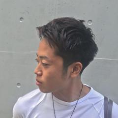 メンズ パーマ 刈り上げ ストリート ヘアスタイルや髪型の写真・画像
