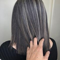 ナチュラル 3Dハイライト ミニボブ 外国人風カラー ヘアスタイルや髪型の写真・画像