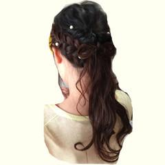 ヘアアレンジ ロング 結婚式 大人かわいい ヘアスタイルや髪型の写真・画像