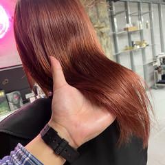 お洒落 ヘアカラー ミディアム ピンクベージュ ヘアスタイルや髪型の写真・画像