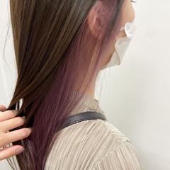 ラベンダーピンク ピンクベージュ ピンク ナチュラル ヘアスタイルや髪型の写真・画像