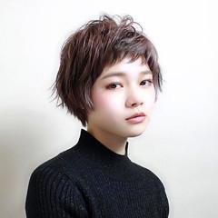 ベリーショート ナチュラル こなれ感 ショート ヘアスタイルや髪型の写真・画像