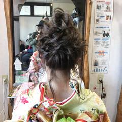 エレガント 結婚式 成人式 ヘアアレンジ ヘアスタイルや髪型の写真・画像