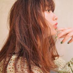 ロング 前髪あり 外国人風 パーマ ヘアスタイルや髪型の写真・画像
