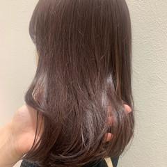 ラベンダー ナチュラル ショコラブラウン ラベンダーグレージュ ヘアスタイルや髪型の写真・画像