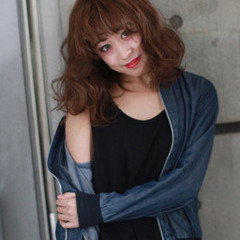 ミディアム ストリート ラフ 外国人風 ヘアスタイルや髪型の写真・画像
