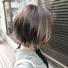ストリート 切りっぱなしボブ 外ハネボブ ボブ ヘアスタイルや髪型の写真・画像