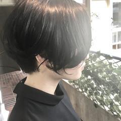 色気 ショート 外ハネ 黒髪 ヘアスタイルや髪型の写真・画像