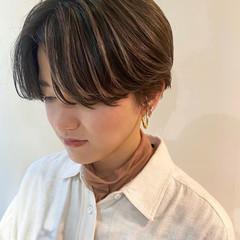 ハイライト ショートヘア ナチュラル ショート ヘアスタイルや髪型の写真・画像