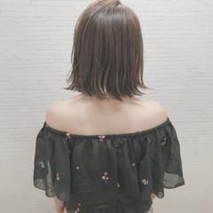 女子会 ヘアアレンジ 切りっぱなし 透明感 ヘアスタイルや髪型の写真・画像
