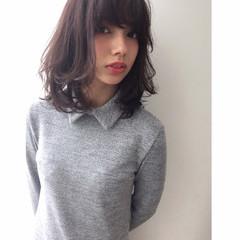 外国人風 ボブ ミディアム フェミニン ヘアスタイルや髪型の写真・画像