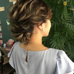 フェミニン ヘアアレンジ セミロング 大人かわいい ヘアスタイルや髪型の写真・画像