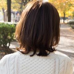 レイヤースタイル ひし形シルエット レイヤーボブ ナチュラル ヘアスタイルや髪型の写真・画像