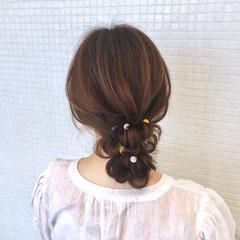 ロング お団子ヘア ナチュラル 浴衣アレンジ ヘアスタイルや髪型の写真・画像