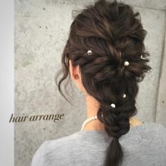 夏 ショート ハーフアップ 簡単ヘアアレンジ ヘアスタイルや髪型の写真・画像