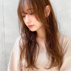 ロング 毛先パーマ 簡単スタイリング 大人かわいい ヘアスタイルや髪型の写真・画像