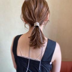 ミディアム デート パーティ ナチュラル ヘアスタイルや髪型の写真・画像
