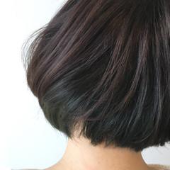 ナチュラル ストリート インナーカラー 暗髪 ヘアスタイルや髪型の写真・画像