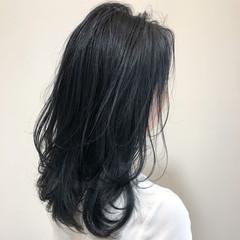 ストリート ネイビーカラー ミディアム 髪質改善トリートメント ヘアスタイルや髪型の写真・画像
