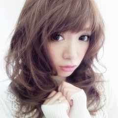 色気 かわいい セミロング キュート ヘアスタイルや髪型の写真・画像