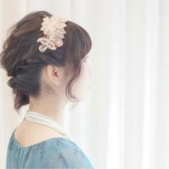 ショート 波ウェーブ 大人かわいい 簡単ヘアアレンジ ヘアスタイルや髪型の写真・画像